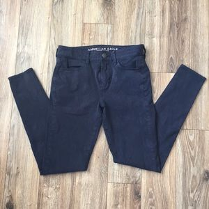 Navy blue jegging's from American eagle!